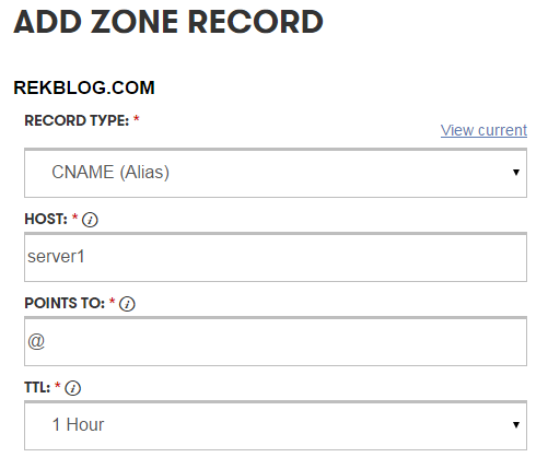 add zone record